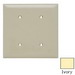 Pass & Seymour TP24-I tradeMaster® 2-Gang Standard-Size Mounted Blank Wallplate; Strap Mount, Nylon, Ivory