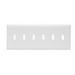Pass & Seymour TP6-W tradeMaster® 6-Gang Standard-Size Toggle Switch Wallplate; Wall Mount, Thermoplastic, White