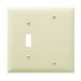 Pass & Seymour TP113-I trademaster® 2-Gang Standard-Size Combination Wallplate; Box Mount, Thermoplastic Nylon, Ivory