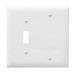 Pass & Seymour TP113-W trademaster® 2-Gang Standard-Size Combination Wallplate; Box Mount, Thermoplastic Nylon, White