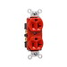 Pass & Seymour 5362-RED Double Pole Straight Blade Duplex Receptacle; Wall Mount, 125 Volt, 20 Amp, Red