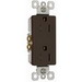 Pass & Seymour 885-TR tradeMaster® Tamper Resistant Double Pole Decorator Receptacle; Wall Mount, 125 Volt AC, 15 Amp, Brown
