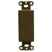 Pass & Seymour 326 1-Gang Blank Insert; Box Mount, Steel, Brown