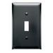 Pass & Seymour TP1-BK tradeMaster® 1-Gang Standard-Size Toggle Switch Wallplate; Wall Mount, Thermoplastic Nylon, Black