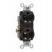 Pass & Seymour CR20-BK Double Pole Straight Blade Duplex Receptacle; Wall Mount, 125 Volt, 20 Amp, Black