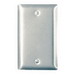 Pass & Seymour SS13 1-Gang Standard-Size Mounted Blank Wallplate; Box Mount, Stainless Steel, Silver