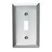Pass & Seymour SS1 1-Gang Standard-Size Toggle Switch Wallplate; Wall Mount, Stainless Steel, Silver