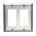 Pass & Seymour SS262 2-Gang Standard-Size Decorator Wallplate; Wall Mount, Stainless Steel, Silver