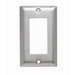Pass & Seymour SS26 1-Gang Standard-Size Decorator Wallplate; Wall Mount, Stainless Steel, Silver