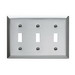Pass & Seymour SS3 3-Gang Standard-Size Toggle Switch Wallplate; Wall Mount, Stainless Steel, Silver