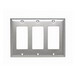 Pass & Seymour SS263 3-Gang Standard-Size Decorator Wallplate; Wall Mount, Stainless Steel, Silver