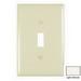 Pass & Seymour TPJ1-LA tradeMaster® 1-Gang Jumbo-Size Toggle Switch Wallplate; Wall Mount, Thermoplastic, Light Almond
