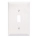 Pass & Seymour TPJ1-W tradeMaster® 1-Gang Jumbo-Size Toggle Switch Wallplate; Wall Mount, Thermoplastic, White
