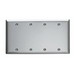 Pass & Seymour SS43 4-Gang Standard-Size Mounted Blank Wallplate; Box Mount, Stainless Steel, Silver