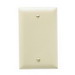 Pass & Seymour TP13-RED tradeMaster® 1-Gang Standard-Size Mounted Blank Wallplate; Box Mount, Thermoplastic, Red