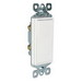 Pass & Seymour TM870-W tradeMaster® Decorator Switch; 1-Pole, 120/277 Volt AC, 15 Amp, White