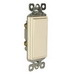 Pass & Seymour TM870-LA tradeMaster® Decorator Switch; 1-Pole, 120/277 Volt AC, 15 Amp, Light Almond