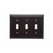 Pass & Seymour TP3-BK tradeMaster® 3-Gang Standard-Size Toggle Switch Wallplate; Wall Mount, Thermoplastic, Black
