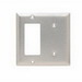 Pass & Seymour SS1426 2-Gang Standard-Size Combination Wallplate; Box Mount, Stainless Steel, Silver