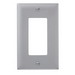 Pass & Seymour TP26-GRY tradeMaster® 1-Gang Standard-Size GFCI Decorator Wallplate; Wall Mount, Nylon, Gray