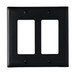 Pass & Seymour TP262-BK tradeMaster® 2-Gang Standard-Size GFCI Decorator Wallplate; Wall Mount, Nylon, Black