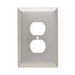 Pass & Seymour SSO8 1-Gang Jumbo-Size Duplex Receptacle Wallplate; Wall Mount, Stainless Steel, Silver