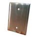 Pass & Seymour SSO13 1-Gang Jumbo-Size Mounted Blank Wallplate; Box Mount, Stainless Steel, Silver