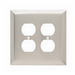 Pass & Seymour SSO82 2-Gang Duplex Receptacle Wallplate; Wall Mount, Stainless Steel, Silver