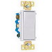 Pass & Seymour TM874-W tradeMaster® 4-Way Decorator Switch; 120/277 Volt AC, 15 Amp, White