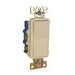 Pass & Seymour TM874-LA tradeMaster® 4-Way Decorator Switch; 120/277 Volt AC, 15 Amp, Light Almond