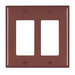 Pass & Seymour TP262 tradeMaster® 2-Gang Standard-Size GFCI Decorator Wallplate; Wall Mount, Nylon, Brown