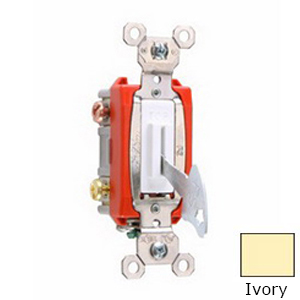 Pass & Seymour PS20AC2-IL Extra Heavy Duty Grade Locking Toggle Switch 2-Pole  120/277 Volt AC  20 Amp  Ivory