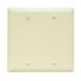 Pass & Seymour TP23-BK tradeMaster® 2-Gang Standard-Size Mounted Blank Wallplate; Box Mount, Thermoplastic, Black