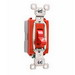 Pass & Seymour PS20AC1-RED Extra Heavy Duty Grade Toggle Switch; 1-Pole, 120/277 Volt AC, 20 Amp, Red