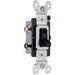 Pass & Seymour 663-BKG tradeMaster® 3-Way Toggle Switch; 3-Pole, 120 Volt AC, 15 Amp, Black