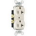 Pass & Seymour 5362-LA Double Pole Straight Blade Duplex Receptacle; Wall Mount, 125 Volt, 20 Amp, Light Almond