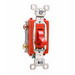 Pass & Seymour PS20AC3-RED Extra Heavy Duty Grade Toggle Switch; 3-Pole, 120/277 Volt AC, 20 Amp, Red