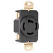 Pass & Seymour 7410 Turnlok® Three Pole Single Receptacle; Wall Mount, 120/208 Volt, 20 Amp, Black