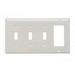 Pass & Seymour SP326-LA 4-Gang Standard-Size Combination Wallplate; Wall Mount, Thermoset Plastic, Light Almond