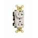 Pass & Seymour 8300-LA Double Pole Duplex Receptacle; Wall Mount, 125 Volt, 20 Amp, Light Almond
