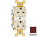 Pass & Seymour 5662-A Double Pole Straight Blade Duplex Receptacle; Wall Mount, 250 Volt, 15 Amp, Brown