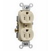 Pass & Seymour TR15-I Tamper Resistant Double Pole Duplex Receptacle; Wall Mount, 125 Volt AC, 15 Amp, Ivory