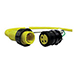 Woodhead / Molex 32680 Quick-Change® BradPower™ Four Pole Male Receptacle; Screw Mount, 600 Volt AC/DC, 15 Amp
