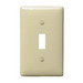 Hubbell Wiring NP1I 1-Gang Standard-Size Toggle Switch Wallplate; Screw Mount, Nylon, Ivory