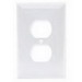 Hubbell Wiring NP8W 1-Gang Standard-Size Duplex Receptacle Wallplate; Screw Mount, Nylon, White