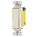 Hubbell Wiring RSD115LA tradeSelect® Two Position Decorator Quiet Switch; 1-Pole, 120 - 277 Volt AC, 15 Amp, Light Almond