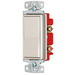 Hubbell Wiring RSD415LA tradeSelect® Two Position 4-Way Decorator Quiet Switch; 2-Pole, 120 - 277 Volt AC, 15 Amp, Light Almond