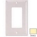Hubbell Wiring NP26I Netselect® tradeSELECT® 1-Gang Standard-Size GFCI Decorator Face Plate; Screw Mount, Nylon, Ivory