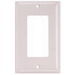 Hubbell Wiring NP26AL Netselect® tradeSELECT® 1-Gang Standard-Size GFCI Decorator Face Plate; Screw Mount, Nylon, Almond