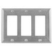 Hubbell Wiring SS263 Style Line® 3-Gang Standard-Size GFCI Decorator Wallplate; Screw Mount, 302/304 Stainless Steel, Satin